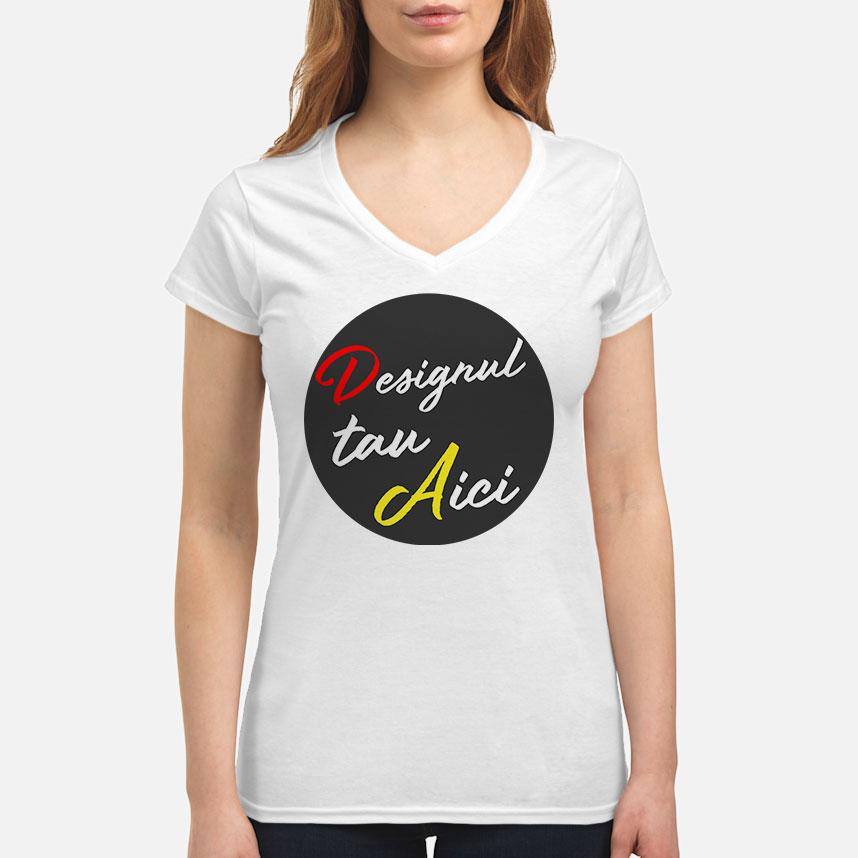 Personalizează ACUM - Tricou damă V-Neck