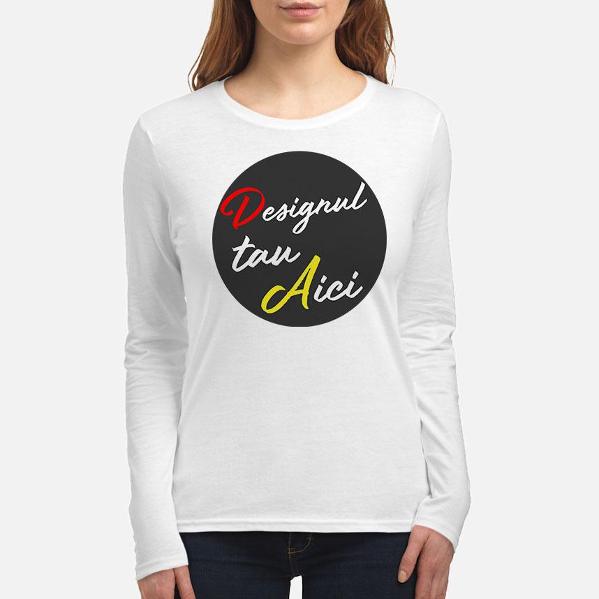 Personalizează ACUM - Tricou damă cu mâneci lungi